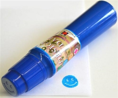 Smiley Face Imprint Blue Bingo Dauber