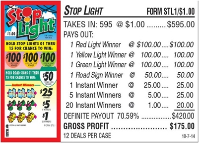 STL1 Stop Light $1.00 Bingo Event Ticket
