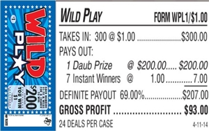 WPL1 Wild Play $1.00 Bingo Event Ticket