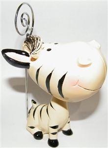 Bobblehead Zebra Bingo Admission Ticket Holder