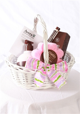 Spa Gift Basket (pink)
