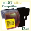 Brother LC67 Yellow