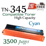 Compatible Brother TN345 TN340 Cyan
