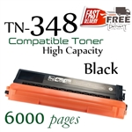 Compatible Brother TN348 TN345 TN340 Black