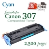 Compatible Canon 307 Cyan
