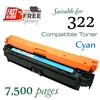 Compatible Canon 322 Cyan