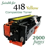 Compatible Canon 418 Yellow