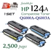 Compatible HP 124A Set Q6000A, Q6001A, Q6002A, Q6003A