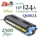 Compatible HP 124A Yellow Q6000A, Q6001A, Q6002A, Q6003A