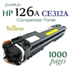 Compatible HP 126A Yellow CE310A CE311A CE312A CE313A