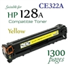 Compatible HP 128A Yellow CE320A CE321A CE322A CE323A