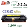 Compatible HP 202X Yellow CF500X CF501X CF502X CF503X