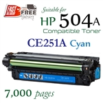 Compatible HP 504A Cyan CE251A