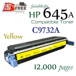 Compatible HP 645A Yellow C9730A C9731A C9732A C9733A