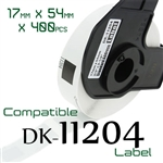 Brother DK11204 Label