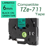 TZe-711 Black on Green