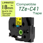 TZe-C41 Black on Fluorescent Yellow
