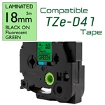 TZe-D41 Black on Fluorescent Green