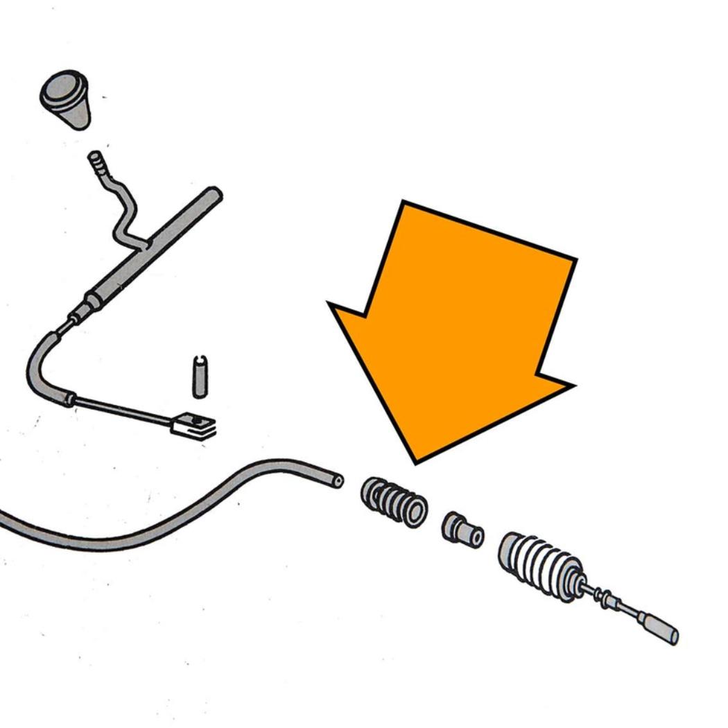 Heater Cable Adjusting Bushing - Transporter 68-72