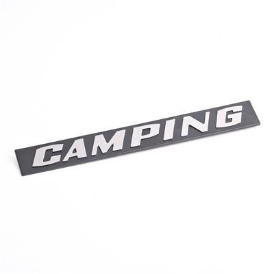 "Inscription for Rear Hatch - ""Camping"" - Chrome - Vanagon"