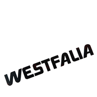 Westfalia Decal - Black - Vanagon Westfalia