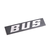 "Inscription for Rear Hatch - ""Bus"" - Chrome - Vanagon 80-83"