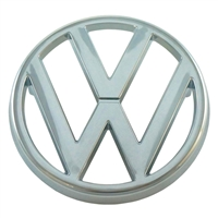 "Emblem for Grill - ""VW"" - 95mm - Chrome - Vanagon 80-85"