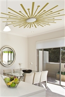 Ceiling Art Decals Sunburst