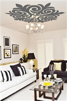 Ceiling Art Decals Scroll Medallion