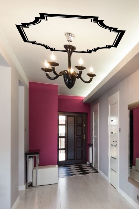 ... Ceiling Art Decals Canopy Molding