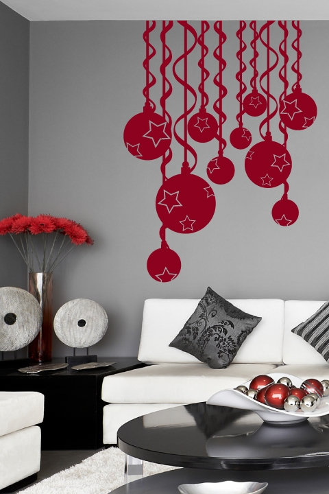 christmas wall decals swirls - Christmas Wall Decal