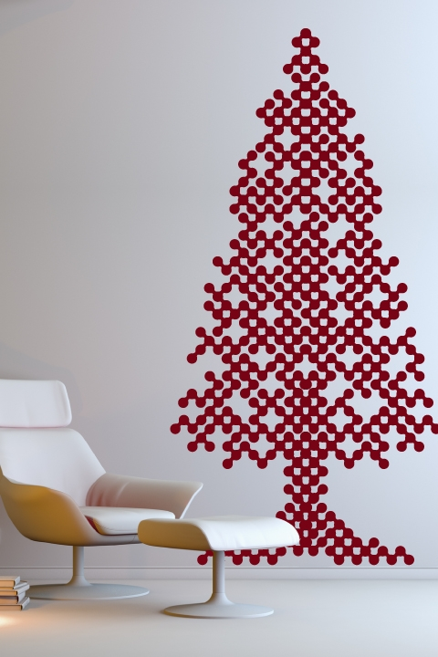 christmas wall decals abstract tree - Christmas Wall Decal