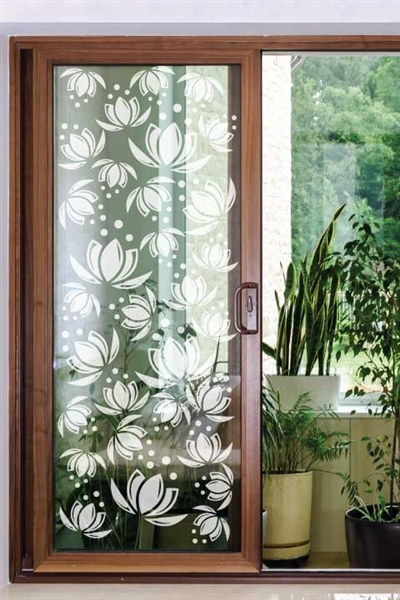 Lotus Window  - Glass Decals