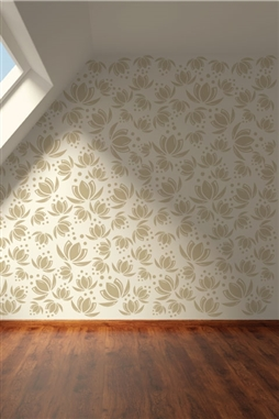 Wall Decals  Lotus Pattern