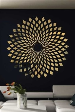 Wall Decals Reflective Diamond starburst round mirror