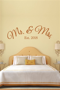 Mr and Mrs Est Wall Decals