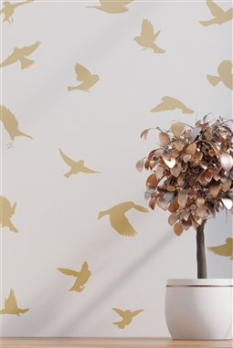 Bird Silhouette Pack 20 Wall Decal - Modern Flying Birds Nature - Variety Sticker Pack - Wall Embellisment - 32 Colors - 1 Pack