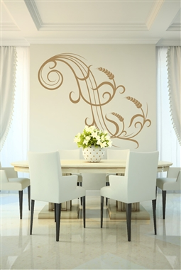 Wall Decals  Wheat Accent - Wall Sticker Embellishment - Floral Wall Decal