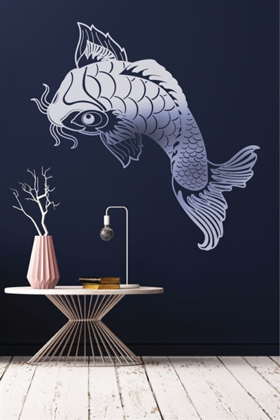 Reflective Wall Decals Koi Fish
