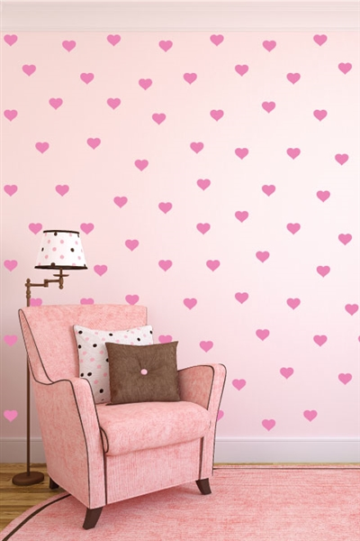 Wall Decals  Heart Polka Dots