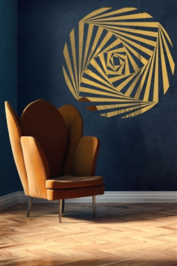 Wall Decals  Reflective Optical Spiral