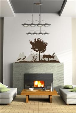 Wall Decals  Mountain View Silhouette