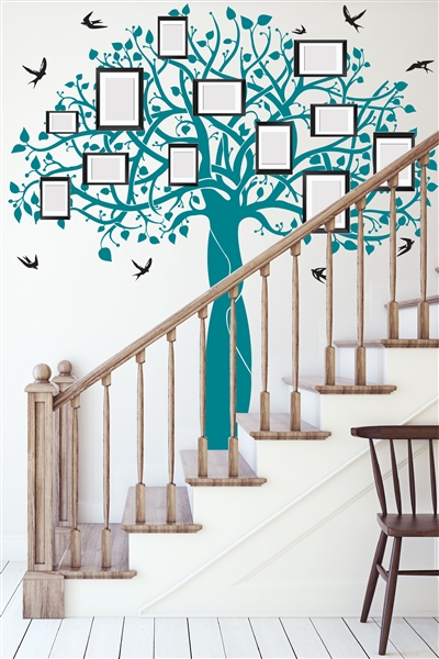 Wall Decals Family Tree 2 - Decorative Mural - For Photo Picture Frames - Wall Decal -  Wall Decor