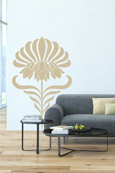 Wall Decals Rising Bloom - Vertical Floral Pattern