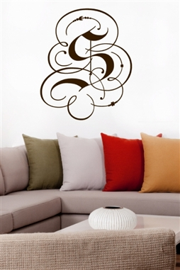 Fancy Monogram Letter Wall Decals