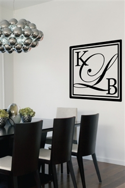 Monogram Initials Wall Decals