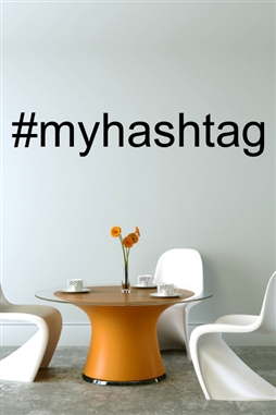 Hashtag Wall Decals