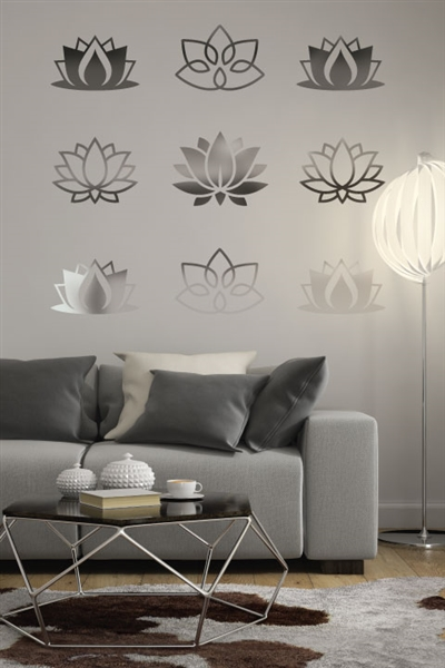 Wall Decals  Reflective Lotus Flowers