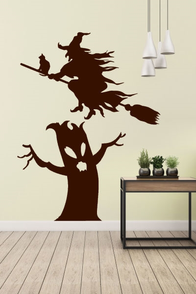 Flying Witch Wall Art