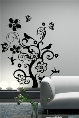 Wall Decals  - Bird and Butterfly